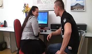 Office Plumper Takes It From Backside